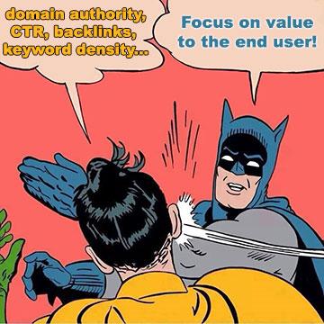 Batman slapping Robin