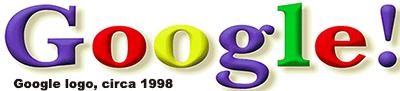 Google logo, circa 1998