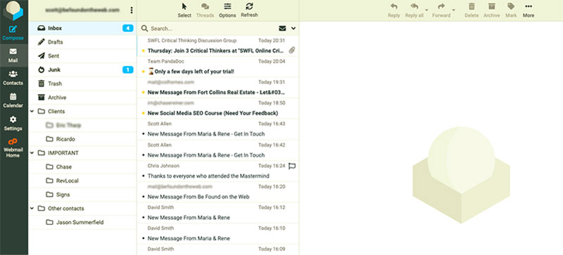 Roundcube Inbox